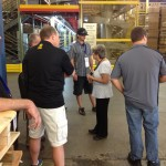 NAPA experts learning about the complex, 24hr per day, manufacturing and warehouse process.