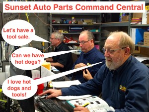 Sunset Auto Parts Tool Sales 2015